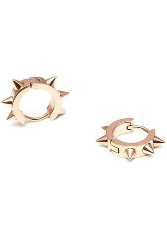 Roxie Rose Gold Hoops with Spikes