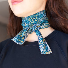 The Neckerchief in Rifle Print Blue Paisley