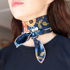 The Neckerchief in Rifle Print Navy Floral