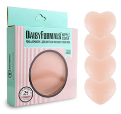 DaisyFormals Thin Pasties - Reusable Adhesive Silicone Nipple Covers (2 Pairs)