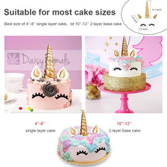 Daisyformals Unicorn Cake Topper with 12 Pcs Cupcake Toppers Wrappers and Happy Birthday Banner plus 2 Pcs Unicorn Balloons,Unicorn Party Supplies for Girls Boys Birthday Party Wedding Baby Shower(16 Packs)