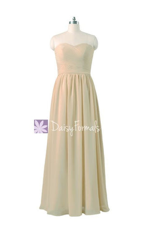Champagne Chiffon Formal Dress Long Party Dress for Lady Wedding Party Dress (BM10824L)