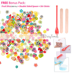 50000pcs Foam Beads for Slime 0.08-0.18 Inch Craft Foam Balls(4Pack) Ideal For Homemade Slime, Kid's Craft, Wedding and Party Decoration, Bonus Fruit Slice + Spoon + Stir Sticks(EAN: 4813781491891)