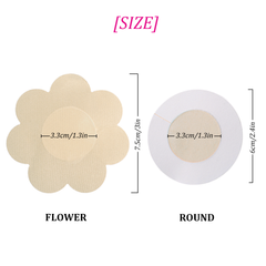 10 Pairs Satin Pasties Women Sexy Pasties Disposable Nipple Covers(Flower & Round)