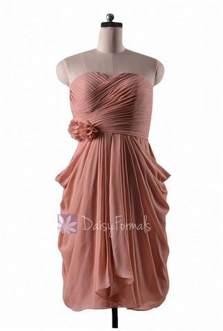 In stock,Ready to Ship - Sheath Short Sweetheart Bridesmaid Dress(BM332) - (#16 Zinnwaldite)