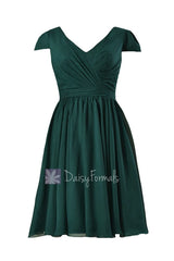 In stock,ready to ship - plus size short rich peacock online bridesmaid dress(bm5192s) - (rich peacock)
