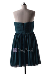Plus size short rich peacock chiffon formal dress short teal dresses (bm10824s)