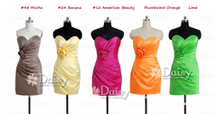 Brown cocktail dress yellow dress pink prom dress orange bridesmaids dress (bm2450)