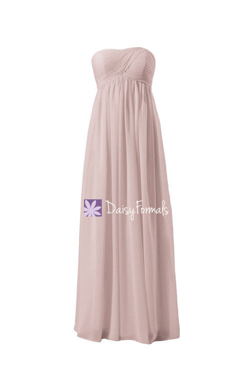 Dusty rose beach wedding party dress empire beach party dress maternity formal dress online (bm10821l)