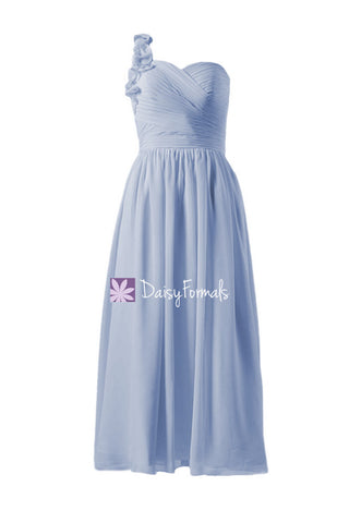 Affordable One Shoulder Long Party Dress Long Cloudy Chiffon Evening Dress (BM10824AL)