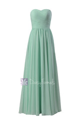 Mint green latest bridesmaid dress floor length chiffon wedding party dresses(bm10824l)