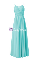 Unique aqua evening dress halter floor length party dress tiffany inspired bridesmaid dress online(bm10826l)