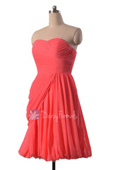 Cherry bridesmaid dress short sweerheart bridal party dress chiffon cocktail dresses(bm130)