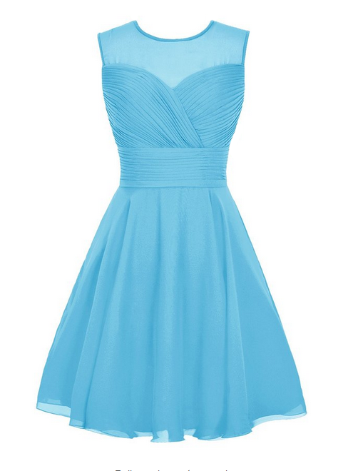 Lovely sea blue online bridesmaid dress cocktail wedding party dress (bm151211)