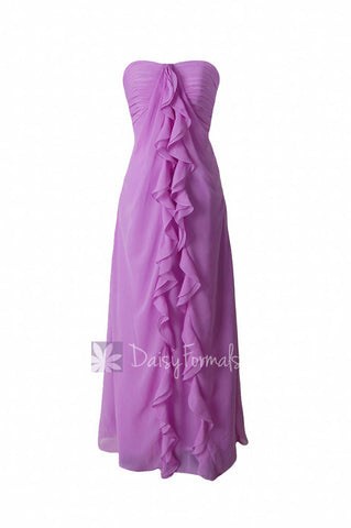 Chic Wisteria Long Sweetheart Chiffon Bridesmaid Dress Formal Evening Dress Lilac Dress (BM232)
