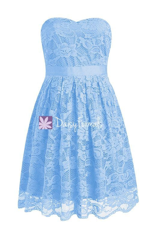 Cornflower Lace Party Dress Sweetheart Lace Prom Dress Formal Dress (BM2346)