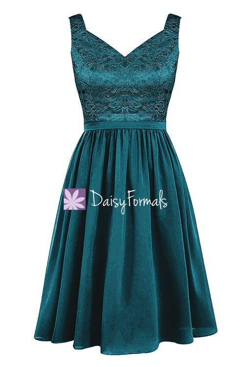 Feminine Lace Party Dress Knee Length Lace Formal Dress Prom Dress (BM2350)