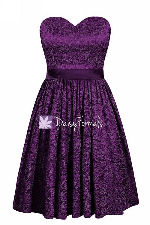 Glamorous Lace Party Dress Short Sweetheart Byzantium Party Dress Formal Dress (BM2351)