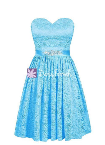 Custom Beading Party Dress Short Lace Formal Dress Prom Dress (BM2351B)