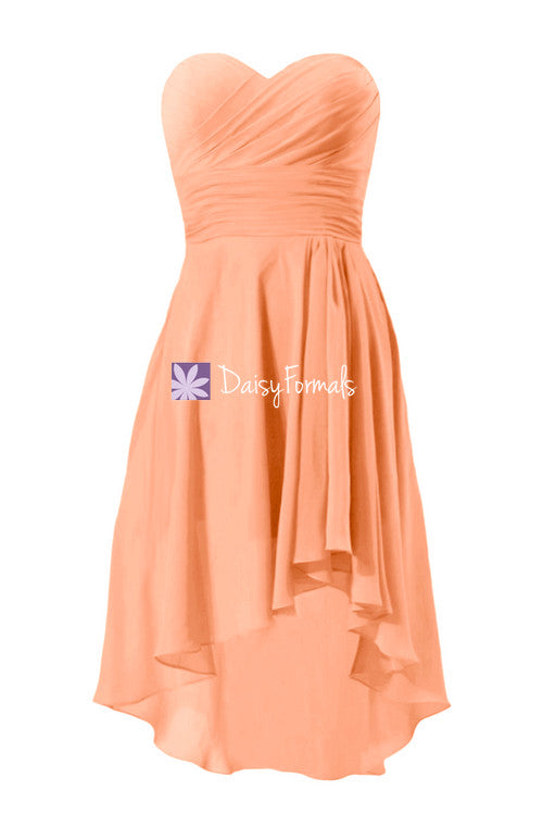 Orange high low party dress fabulous holiday dress evening dress with sweetheart neckline (bm2433)