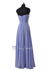 Strapless chiffon bridesmaid dress light green party wears formal evening gowns(bm2442l)