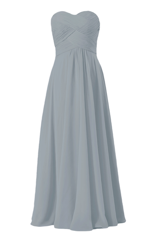 Cadet Gray Chiffon Party Dress Long Beach Bridesmaids Dress Formal Dress (BM2443L)