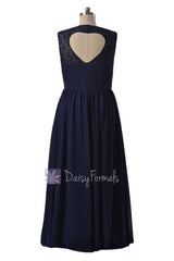 Short Lace Party Dress W/Heart Shape Hollow Back (BM2528S) -altered to be knee length