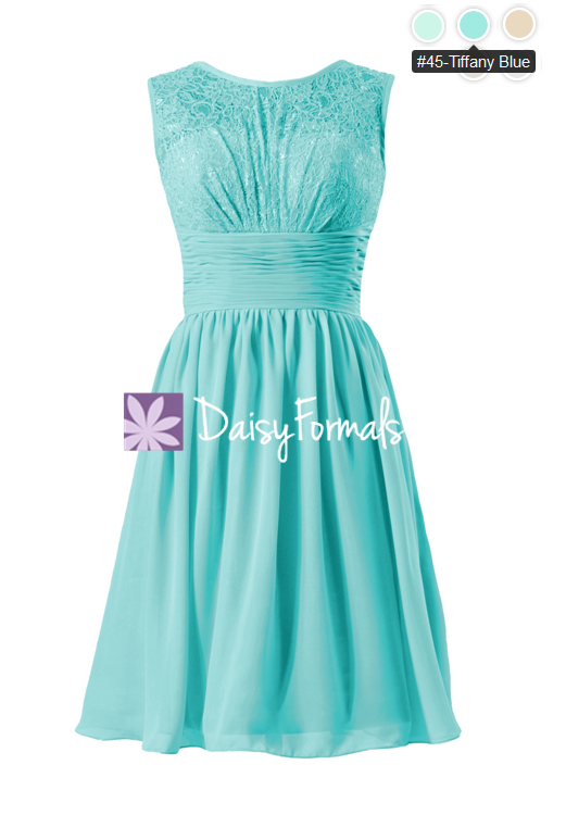 aqua lace bridal party dress tiffany blue vintage chiffon