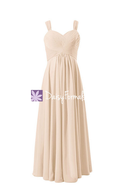 Nude Color Best Bridesmaid Dress Formal Evening Gown Beaching ...
