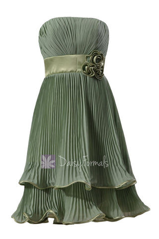 Classic Short Two-Layer Xanadu Chiffon Bridal Party Dress Vintage Formal Evening Dress(BM334)