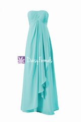 Perfect beach wedding party dress floor length elegant formal dress w/empire waist (bm4046l)
