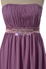 Pale Lilac Maternity Prom Dress Beading Lilac Maternity Bridesmaid Dress (BM472)