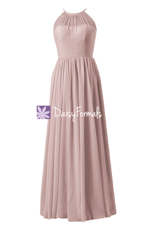 Vintage chiffon party dress long unique bridesmaid dress illusion formal dress (bm5197l)