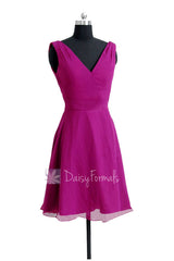 Sexy deep v-neck bridal party dress short american beauty affordable bridesmaid dresses(bm7732)