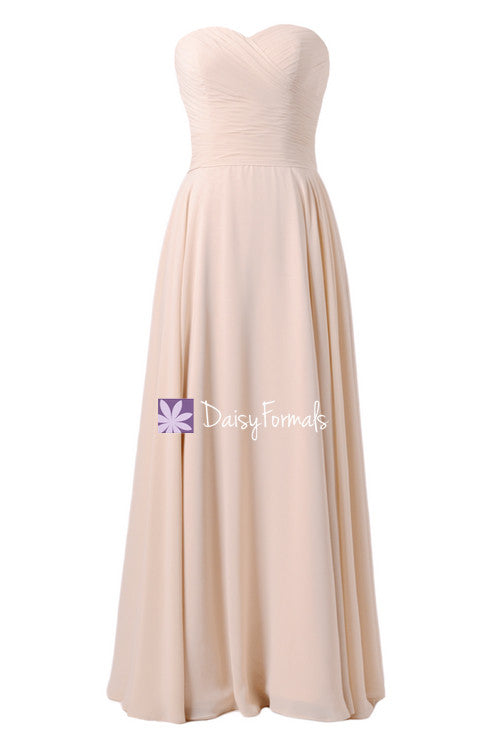 Speechless ice apricot chiffon party dress long formal bridesmaids dress peach evening dress (bm7860)