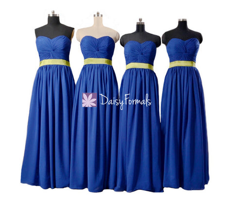 Long Chiffon Bridesmaids Dresses Beach Wedding Garden Wedding Party Dress (BM835CT)