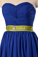 Custom quality bridesmaid dress blue green chiffon evening dress long bridal party dresses (bm835ct)