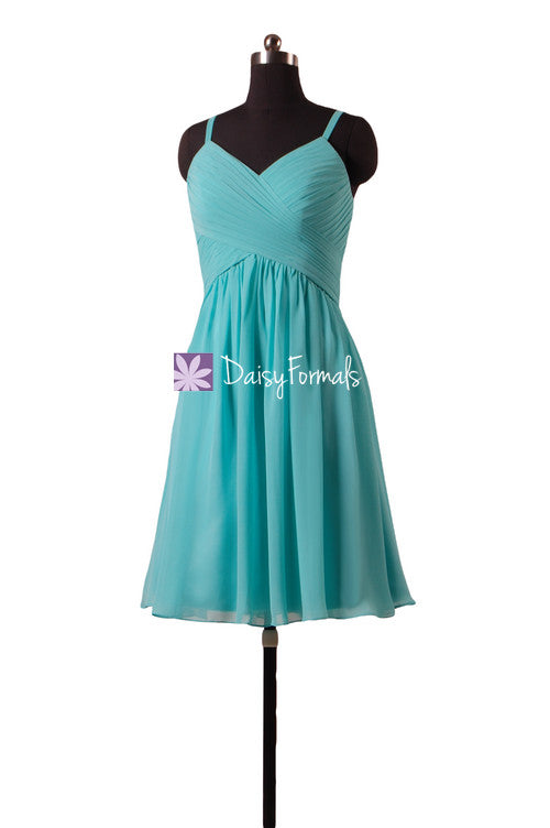 Elegant Tiffany Blue Bridesmaids Dress Robin Egg Blue Cocktail Dress ...