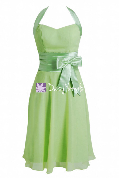 Spring bud chiffon party dress formal dress cocktail dress short knee length dress (bm8529)