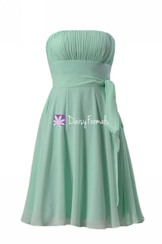 Beautiful Mint Green Cocktail Dress Party Dress Beach Wedding Party Dress (BM856)