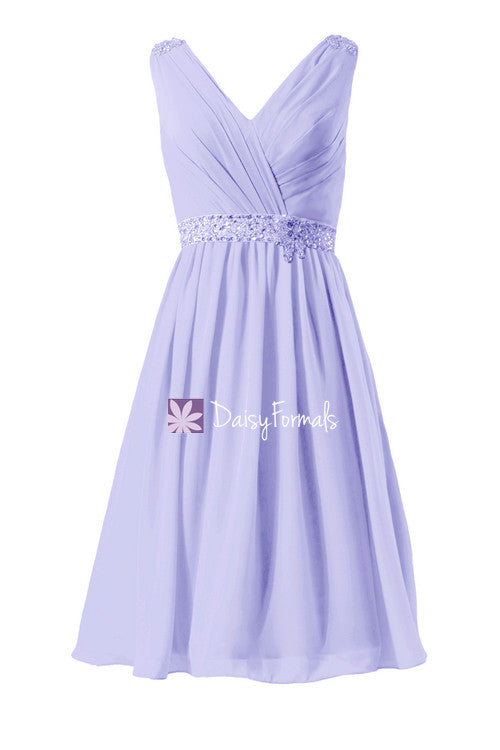 Beautiful beading elegant bridesmaids dress v neckline party dress for anniversary & birthday (bm874)