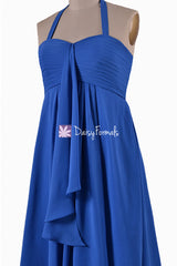 Royal Blue Chiffon Dress Short Women Party Dress Formal Evening Dress (BM892S)