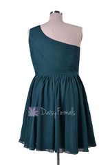 In stock,ready to ship - plus size short rich peacock chiffon bridesmaid dresses(bm10822s) - (rich peacock, sz24)