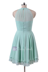 Summer wedding party dress chiffon party dress modern short party dresses (cst1004)