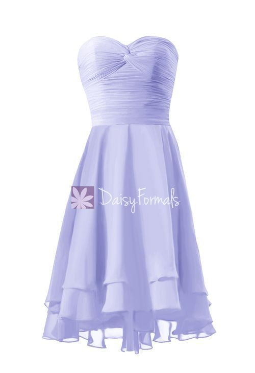 Light iris strapless party dress sweetheart prom dress graduation dress formal dress (cst2229)
