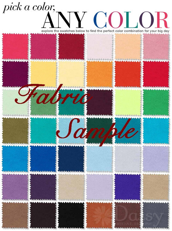 1599253c1cf By post- Fabric Sample Color Swatch for Formal Dress
