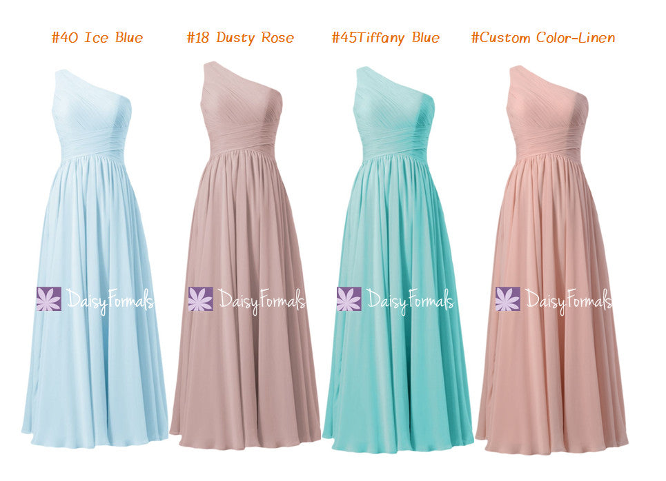 Ice Blue Chiffon Dress Dusty Rose Party Aqua Formal Affordable Linen Bridesmaids