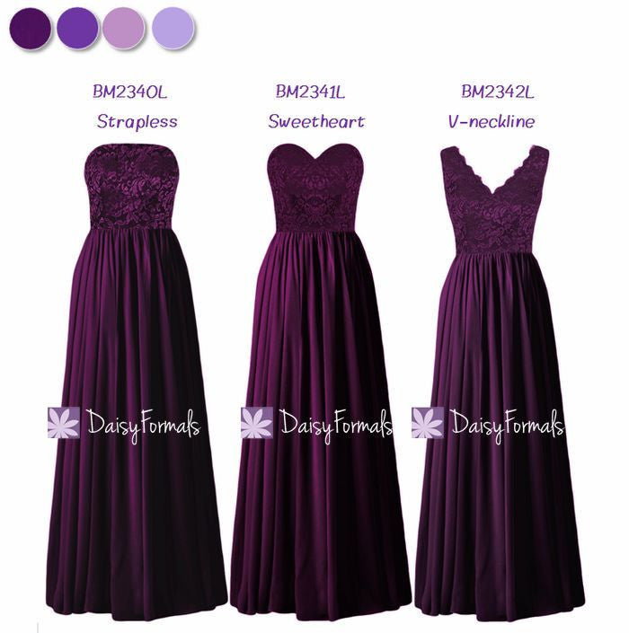 Byzantium Lace Mismatched Dresses Long Party Dress - Byzantium Mystery (MM160)