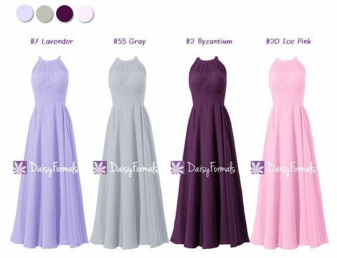 Halter Neckline Bridesmaids Dress - Pretty Complimentary Contrasts (MM163)
