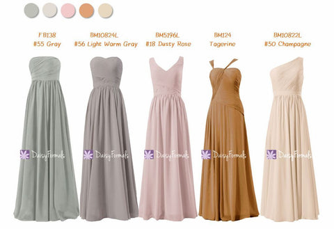 Long Bridesmaids Dress Full Length Party Dress - Personalized Color Theme for Fall Wedding (MM171)